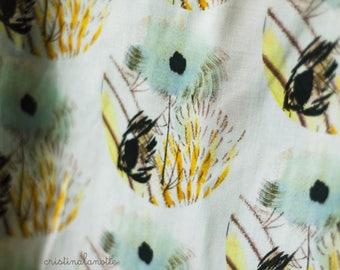 Oriental flower fabric