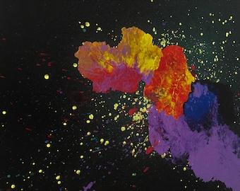 """Canvas Acrylic Painting """"Emocija""""  Domo97"""