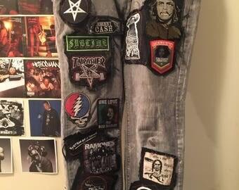 Punk jeans.