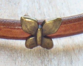Regaliz Antique Brass Butterfly Spacer Bead, Spacer Bead, Slider Bead, Regaliz Spacer Bead