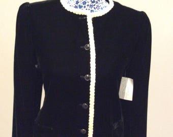 Vintage 1980's Emanuel Ungaro black velvet jacket