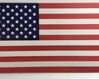 Rustic American Flag
