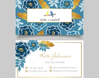 Chloe and Isabel Business Card, Custom Chloe and Isabel Card, Fast Free Personalization, Chloe and Isabel, Printable Business Card