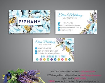 Piphany Business Card, Piphany Punch Card, Custom Piphany Business Card, Buy 10 Get 1 Free, Printable Card - PERSONALIZED TP07