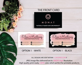 Monat Business Card, Custom Monat Business Card, Personalization Monat Card, Custom Monat Hair Care Card, Printable Business Card MN18