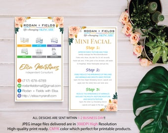 Rodan and Fields Mini Facial Card, Rodan and Fields Business Card, Intensive Renewing Serum, PERSONALIZED Rodan Fields, Digital files RF11