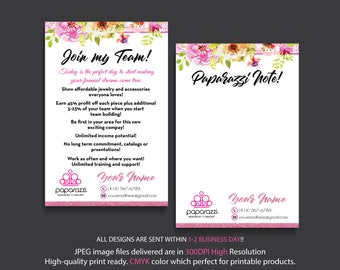 Join my team Paparazzi, Paparazzi Note Card, Personalized Paparazzi Card, Paparazzi Marketing, Custom Paparazzi Card, Printable PP25
