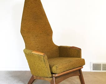mid century Adrian Pearsall high back lounge chair