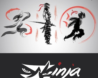 Ninja logo set 3