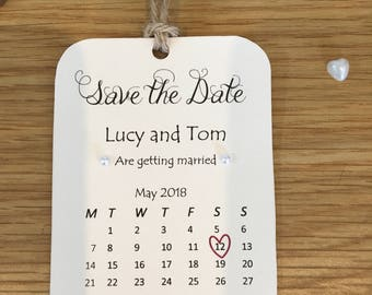 Save the date magnet (Calendar 1)
