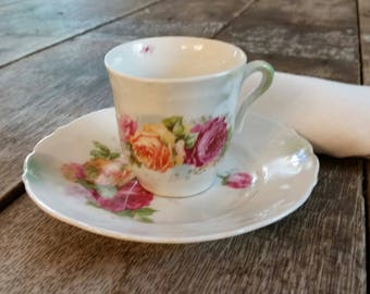 Vintage Demitasse Cup and Saucer...Beautiful!