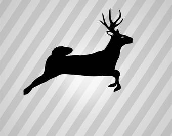 Deer Buck Silhouette - Svg Dxf Eps Silhouette Rld RDWorks Pdf Png AI Files Digital Cut Vector File Svg File Cricut Laser Cut