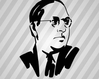 B.R.Ambedkar - Svg Dxf Eps Silhouette Rld RDWorks Pdf Png AI Files Digital Cut Vector File Svg File Cricut Laser Cut