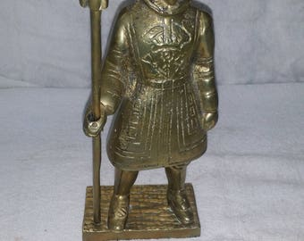 1970s solid brass beefeater statue