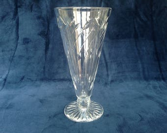 Vintage cut glass vase circa 1970s