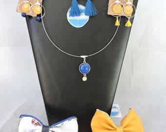 Bow and seabed bracelet set