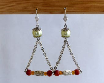 Earrings dangle Crystal veil oriant