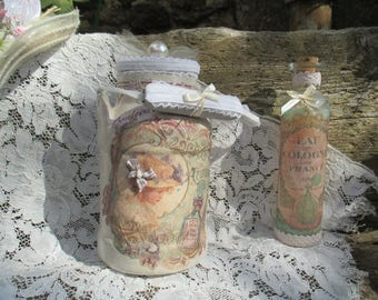 """Antique apothecary jar, restyled """"charm... """""""