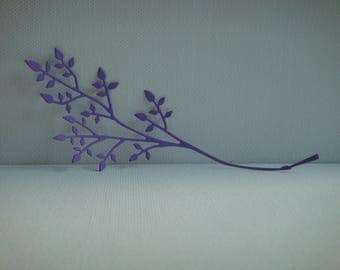 Cut branch purple design for scrapbooking and card paper