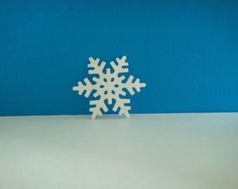 White snowflakes cut foam for creation for Christmas, 4.7 cm diameter