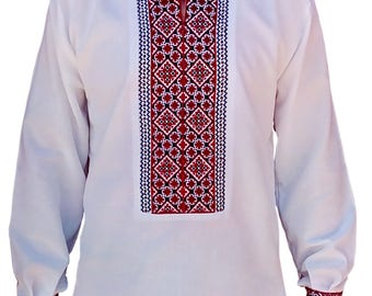 Vyshyvanka for Men Embroidered Shirt With Ethnic Ukrainian Ornaments Sorochka Vyshyvana - LIMITED TIME OFFER