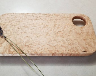 Bird's Eye Maple Charcuterie Serving and Cutting Board