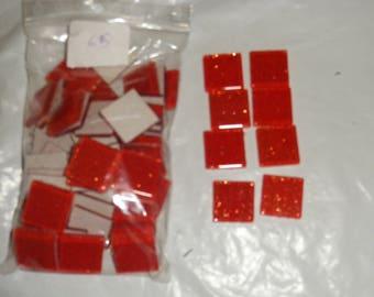 Set of 65 mosaic squares