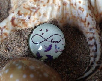 """Adjustable ring """"love, infinity, and birds..."""""""