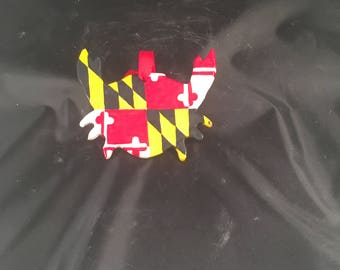 Maryland Pride Crab/Flag Ornament, Ceramic, Handmade, Maryland Flag, Maryland Crab, Ornament, Crab Ornament, Maryland Ornament, Ceramic Orn