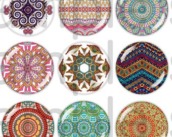60 Digital Images Ethnic 13-18mm / 18-25mm / 20mm / 25mm