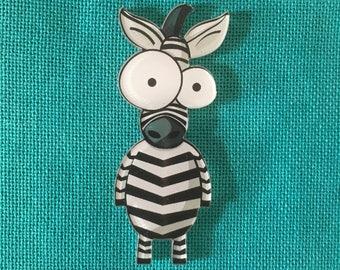 Zebra Acrylic Needle Minder