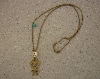 Long skull necklace