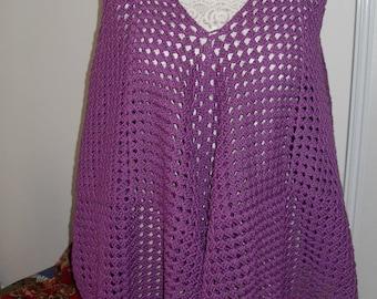 tunic size unique violet hand made crochet