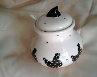 520) decor hens kitchen pot