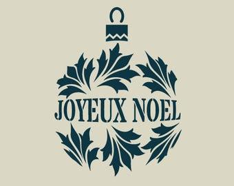 Christmas ball. Christmas decoration. (Ref 176) adhesive vinyl stencil