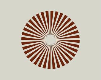 Sun stencil. Drawing Sun (ref 449)