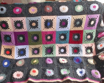 """Alabama"" multicolor granny crochet blanket"