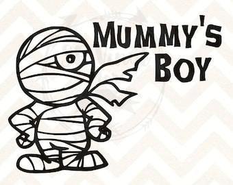 Mummys Boy Halloween SVG for boys