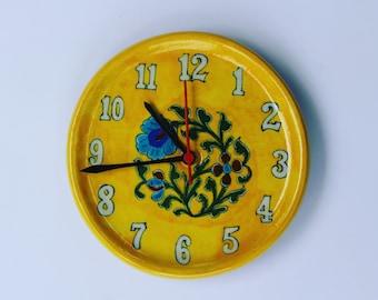 Handmade Wall Clocks, Painted Clocks, Watches, Clocks, Pottery Clocks, Office  Clocks
