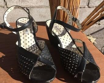 Size 7 BAIT Footwear.  Vintage style wedge sandal shoe.
