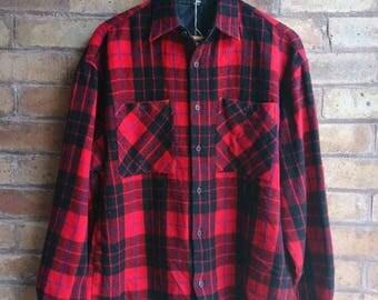 Vintage red lumber shirt