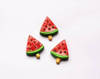 30pcs watermelon DIY Miniature Artificial Fake Food Cake Resin Cabochon Scrapbooking for diy decoration