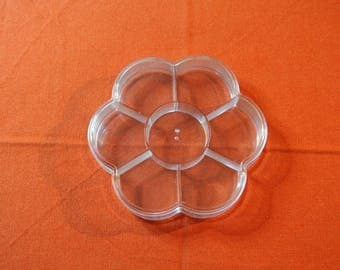 Flower clear hard plastic storage box