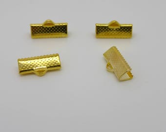 Ribbon, gold metal tip decorated 15 mm