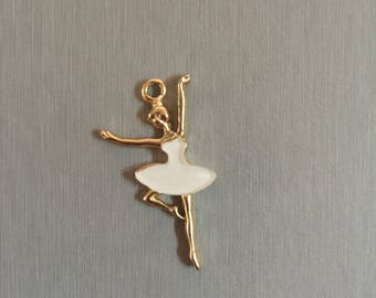 Golden dancer white enamel