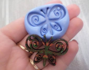 New! Gorgeous butterfly for your creations 3.5cm/2.5cm fimo mold