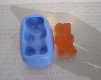 "Mold silicone soft ""mini Teddy bear candy 2cm"""