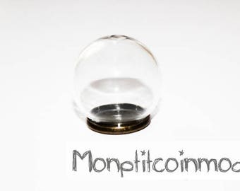 20mm - Globe ball snow glass with BRONZE backing