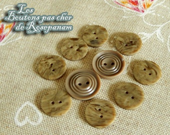 great 10 old 1.8-2.2 cm beige vintage buttons on natural fabrics