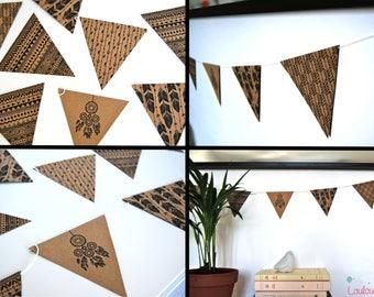 kit guirlande exotique th me ananas et palmiers fanions en. Black Bedroom Furniture Sets. Home Design Ideas